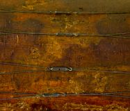 Old wood drum background Stock Image