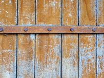 Old wood fence gate Royalty Free Stock Images