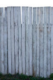 Old wood fence on white background Stock Images