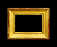 Old wood frame isolated on black Royalty Free Stock Photo