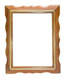 Old wood frame isolated on the white Royalty Free Stock Photos