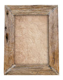 Old wood frame with soil texture background Royalty Free Stock Photos
