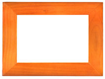 The old wood frame on the white Royalty Free Stock Image