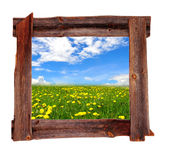 Old wood frames Spring Royalty Free Stock Images