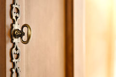 Old Wood Furniture Decorative Door Handle Hardware Stock Images