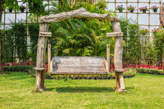 Old wood garden chair Stock Image