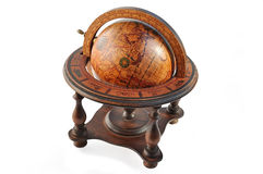 Old wood globe. Stock Image