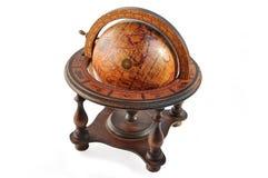 Old wood globe. stock image