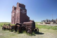 Old Wood Grain Elevator Prairies royalty free stock image