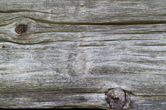 Old wood. Grey old wood with texture and knobs Royalty Free Stock Photo
