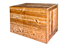 Old Wood Heavy Duty Shipping Crate Isolated Royalty Free Stock Images