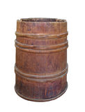 Old wood hoop wooden barrel isolated Stock Photos