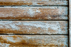 Old wood horizontal texture background with peeling paint Stock Photography