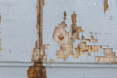 Old wood horizontal texture background with peeling paint Stock Images