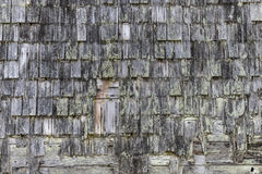 Old wood house shingles Stock Images