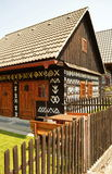 Old wood house. In Slovakia Stock Photo