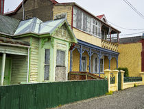 Old wood houses in Bluff Royalty Free Stock Image