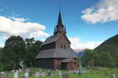 Old wood Kaupanger Stave Church, Norway Stock Photos