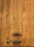 Old wood letterbox Stock Images