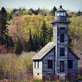 Old Wood Lighthouse Stock Photo