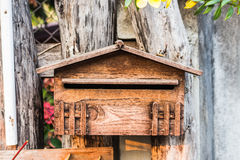 Old wood mailbox Royalty Free Stock Photography