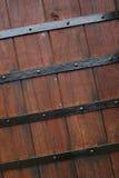 Old wood monastery door Stock Photos