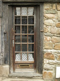 Old wood nice door. Nice wood door in Britain France with lace Stock Images