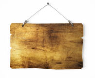 Old wood notice board Stock Photo