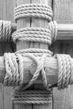 Old wood and old rope Royalty Free Stock Image