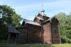 The Old wood ortodox church at The  Great Veliky Novgorod, Rus Royalty Free Stock Images