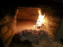 Old Wood oven. Wood oven in black and white Stock Photos