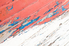 Old wood painted blue and red Stock Images