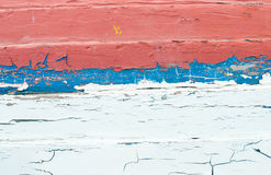 Old wood painted blue and red Royalty Free Stock Images