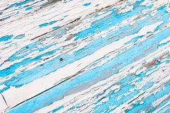 Old wood painted blue and white Royalty Free Stock Photos