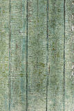 Old wood painted green fence texture Royalty Free Stock Images
