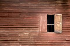 Old wood pannel and window. For background Royalty Free Stock Photo