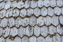 Old wood pattern of roof Royalty Free Stock Images