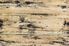 Old wood pattern textured. Grunge plank top of wooden table in r. Estaurant Royalty Free Stock Photography