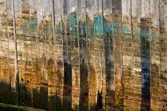 Old wood pier. Abstract detail of an old wood pier royalty free stock photo