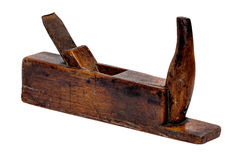 Old wood plane. Isolated on a white background Royalty Free Stock Photos