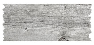 Old wood plank. Isolated on white background stock photography
