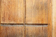Old wood plank on ancient door Stock Images
