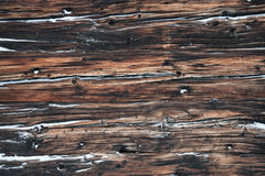 Old wood plank from a chalet in the Alps Stock Photography