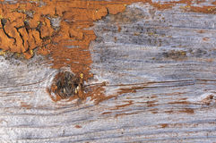 Old wood plank painted texture. Painted color peel off from old gray wood plank background Royalty Free Stock Images