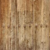 Old Wood Plank Panel With Forged Rusty Iron Nails Texture Royalty Free Stock Images