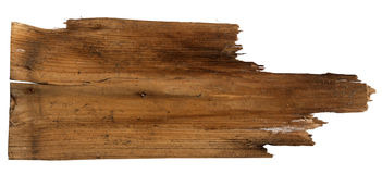 Old Wood plank,  on white background Stock Photo