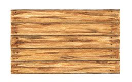 Old wood plank on white background, Watercolor painting.  stock photography