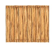 Old wood plank on white background, Watercolor painting.  royalty free stock images