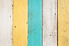 Old wood planks. Old painted wood planks, vertical Stock Images