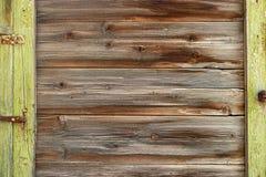 Old wood planks frame. Vintage colored abandoned fence planks backdrop. Stock Photography